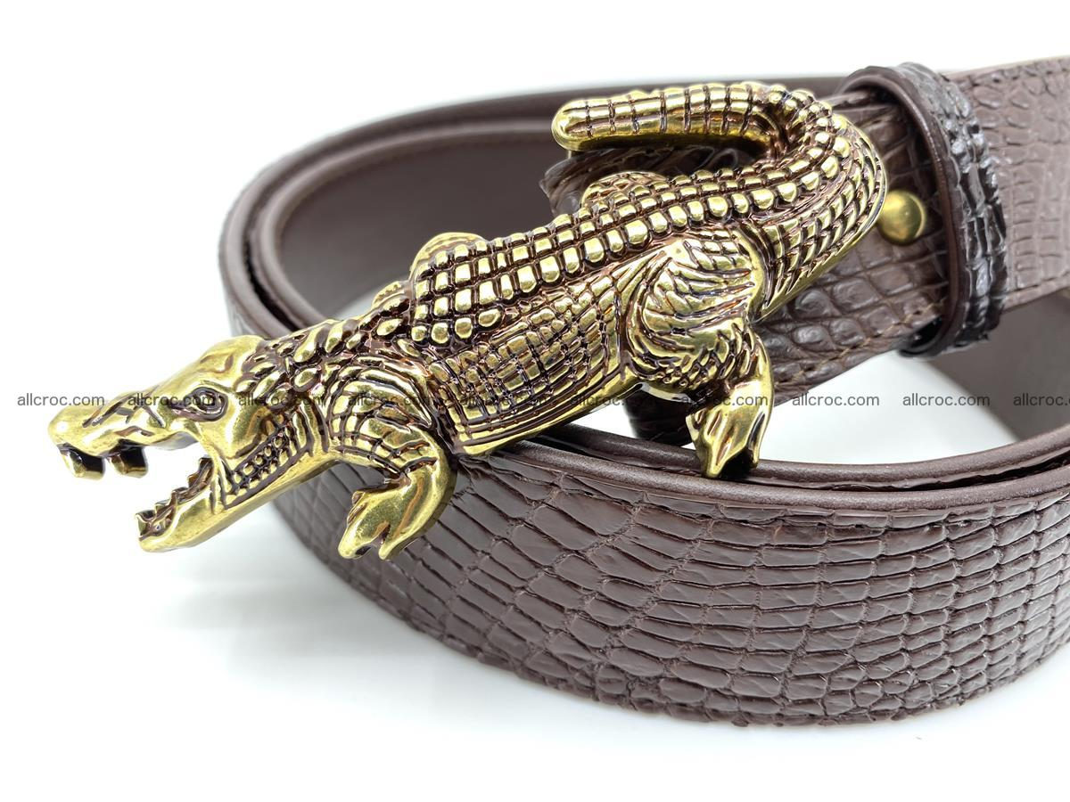 Handcrafted Crocodile leather belt 758 Foto 2
