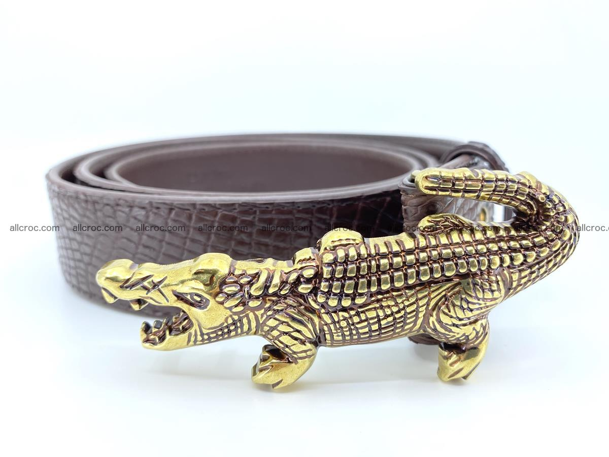 Handcrafted Crocodile leather belt 758 Foto 1