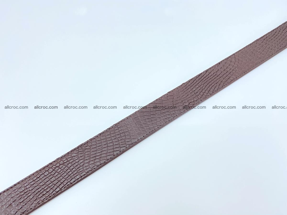 Handcrafted Crocodile leather belt 758 Foto 11
