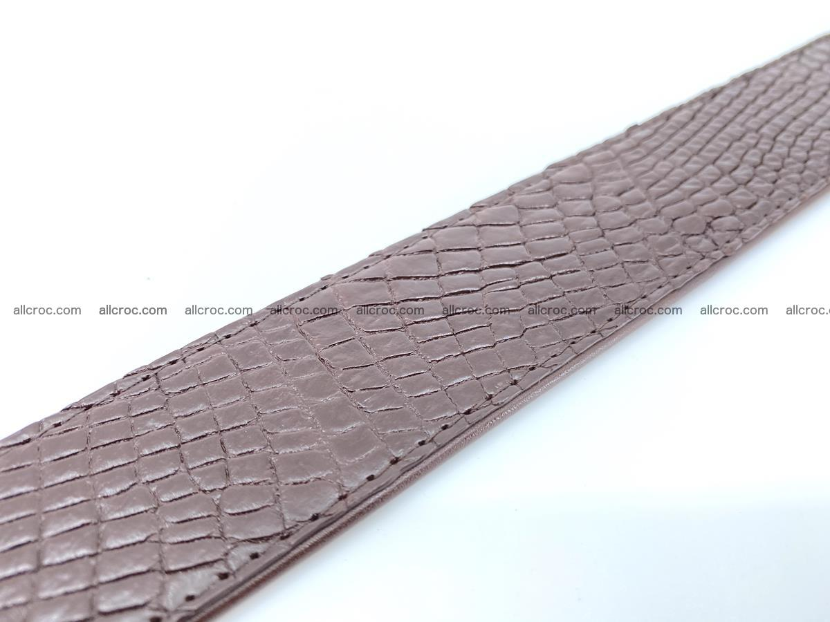 Handcrafted Crocodile leather belt 758 Foto 12
