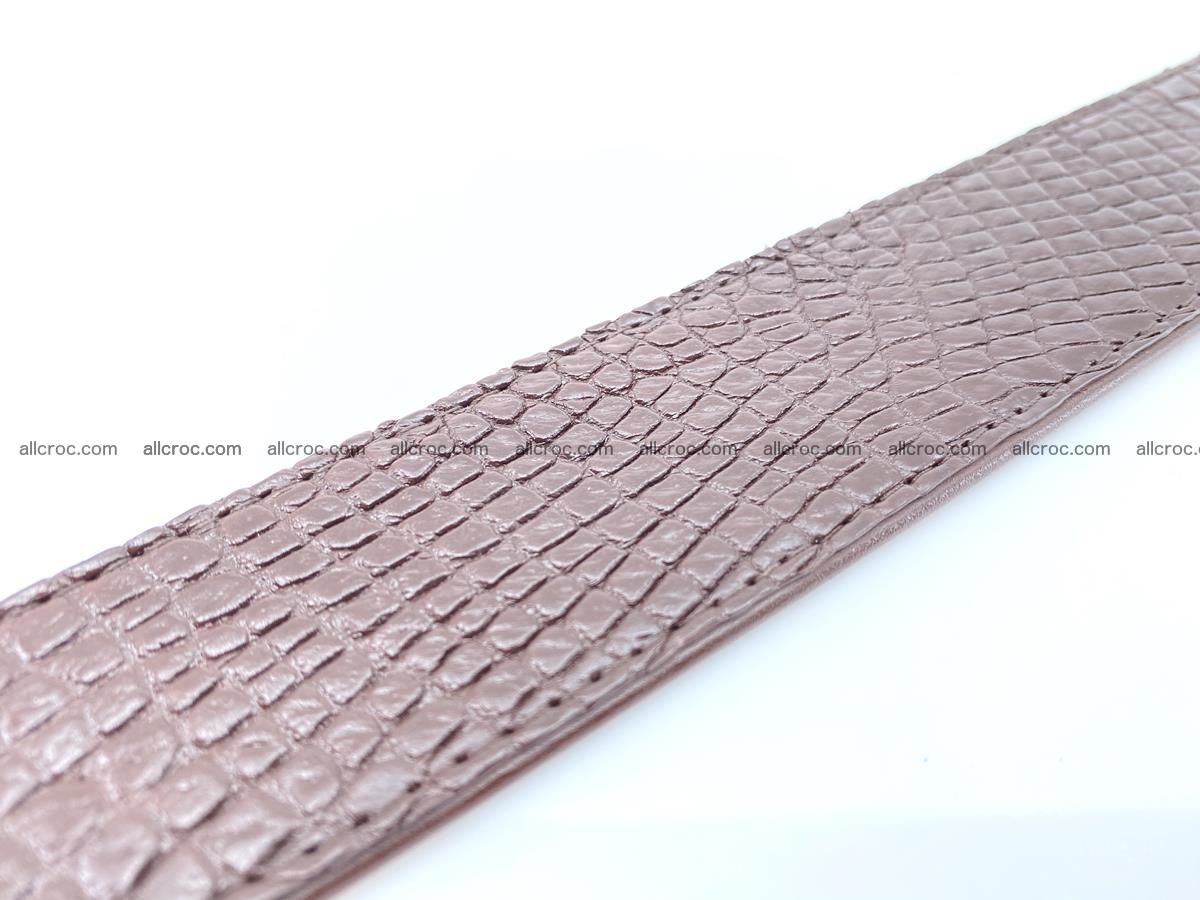 Handcrafted Crocodile leather belt 758 Foto 13