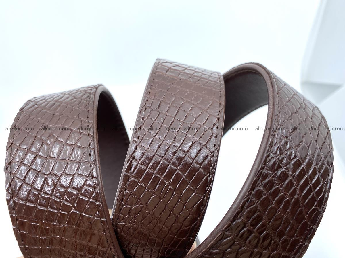 Handcrafted Crocodile leather belt 758 Foto 14