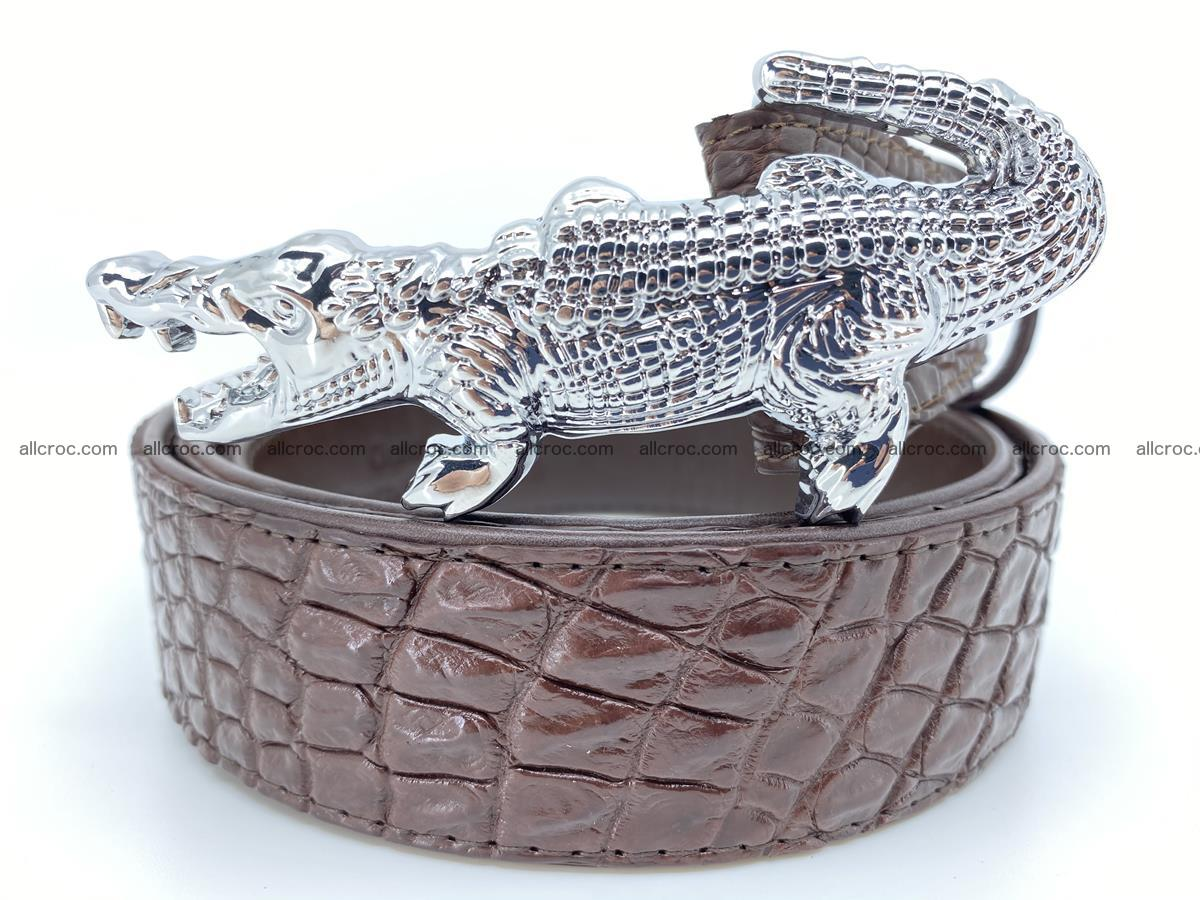 Handcrafted Crocodile leather belt 760 Foto 0