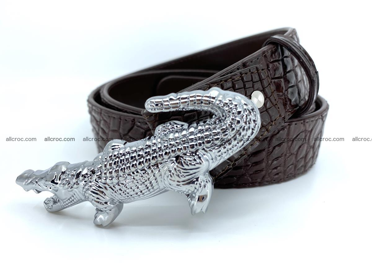 Handcrafted Crocodile leather belt 760 Foto 1