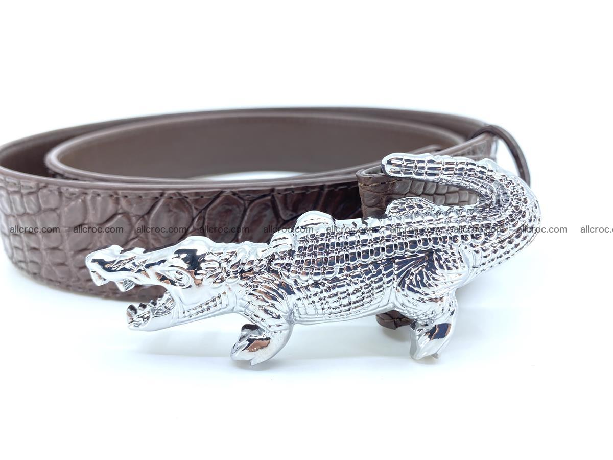 Handcrafted Crocodile leather belt 760 Foto 2