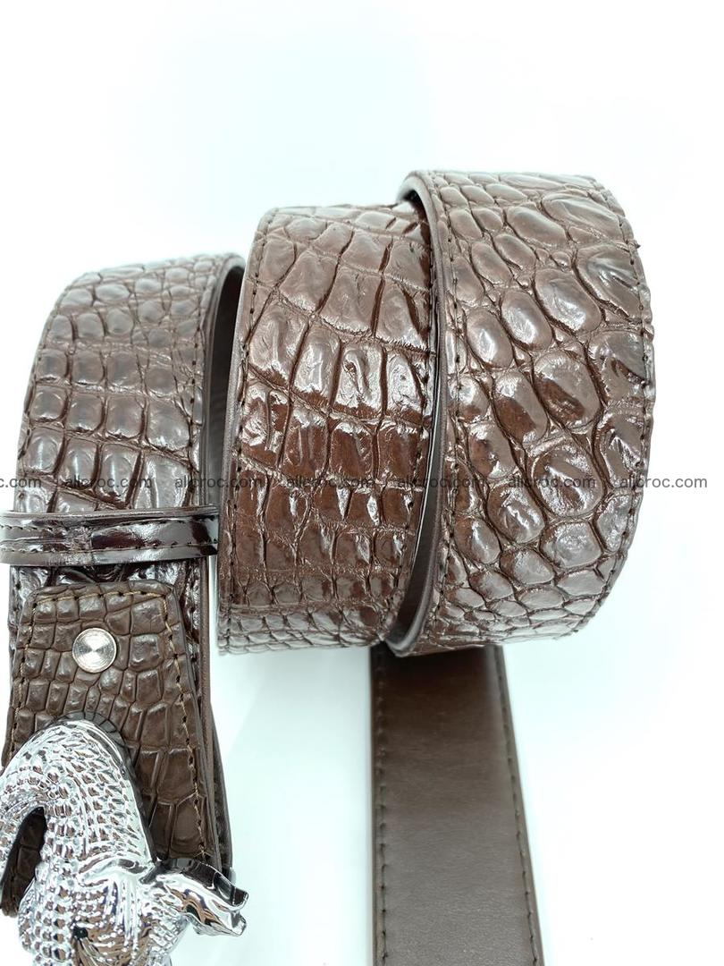 Handcrafted Crocodile leather belt 760 Foto 4