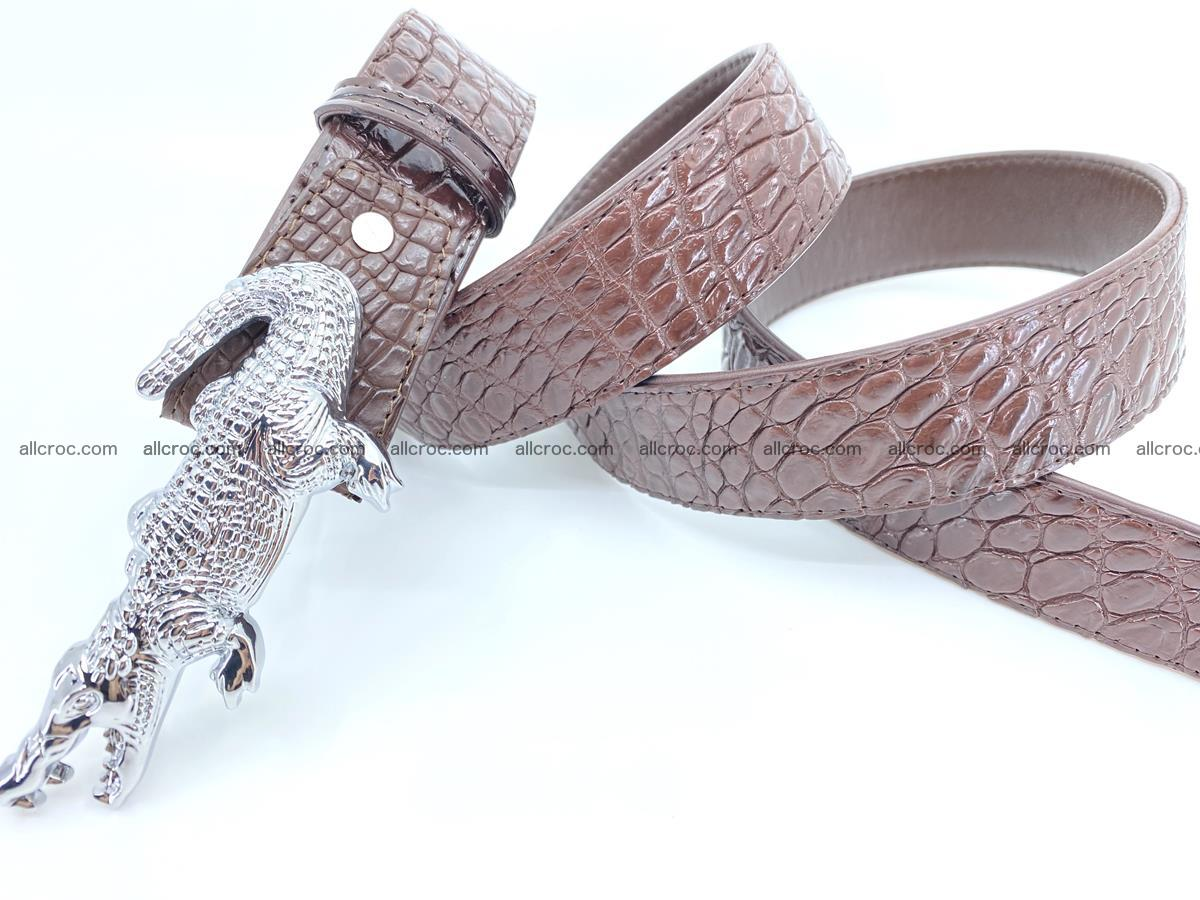 Handcrafted Crocodile leather belt 760 Foto 5