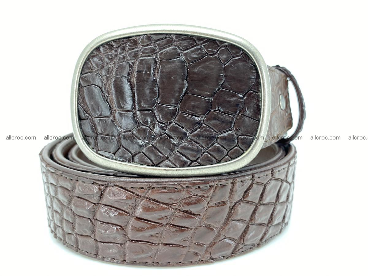 Handcrafted Crocodile leather belt 781 Foto 0