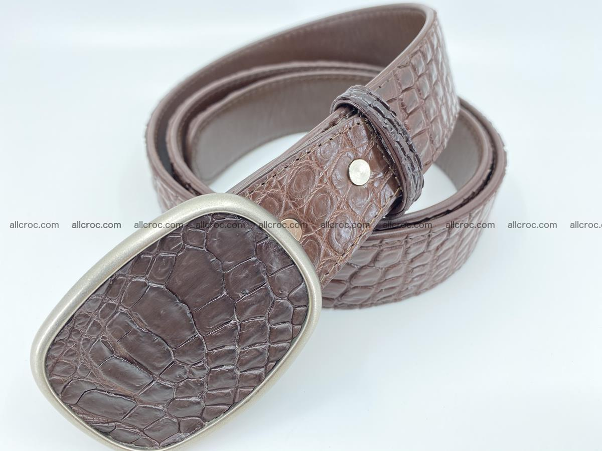 Handcrafted Crocodile leather belt 781 Foto 1