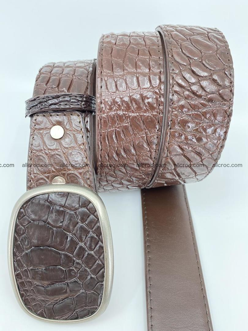 Handcrafted Crocodile leather belt 781 Foto 2