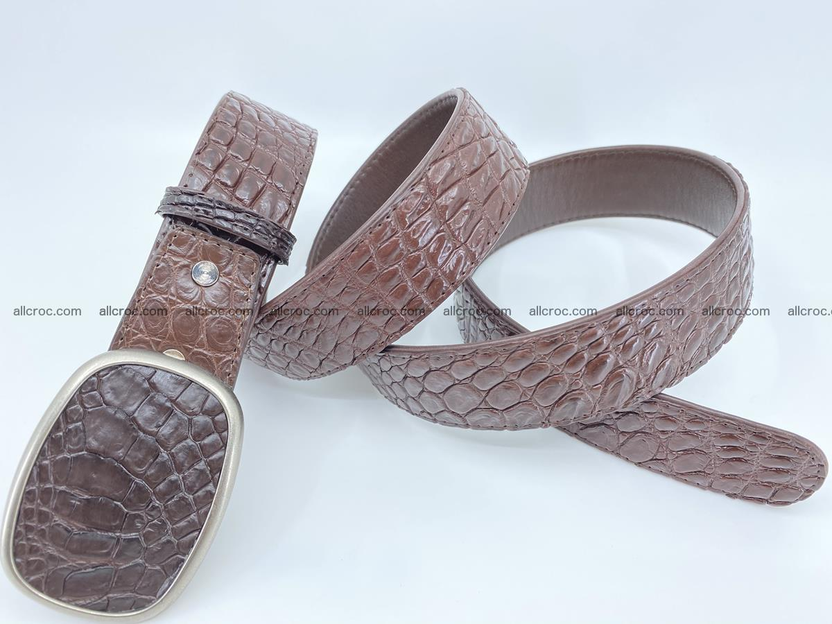 Handcrafted Crocodile leather belt 781 Foto 3