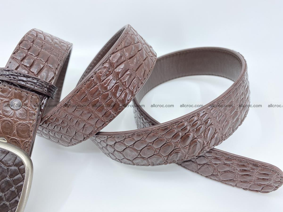 Handcrafted Crocodile leather belt 781 Foto 4