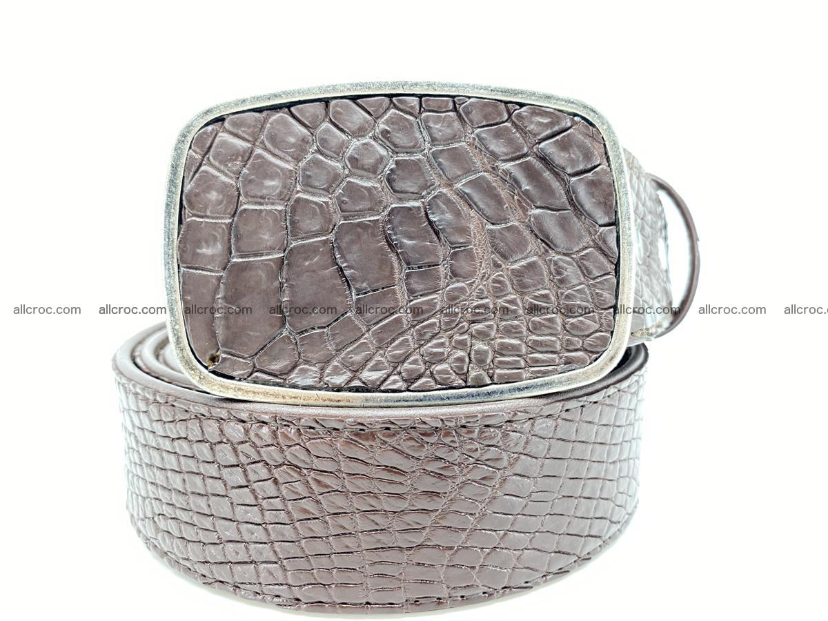 Handcrafted Crocodile leather belt 785 Foto 0