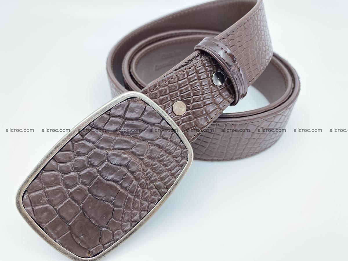 Handcrafted Crocodile leather belt 785 Foto 1