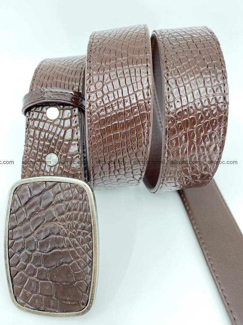 Handcrafted Crocodile leather belt 785 Foto 2