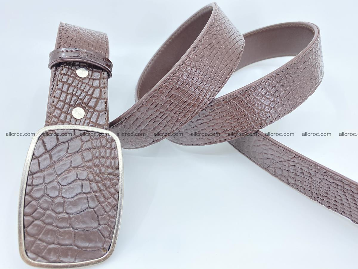Handcrafted Crocodile leather belt 785 Foto 3