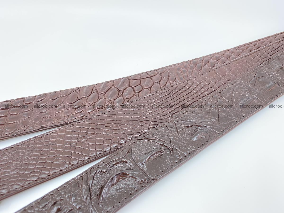Handcrafted Crocodile leather belt 791 Foto 9