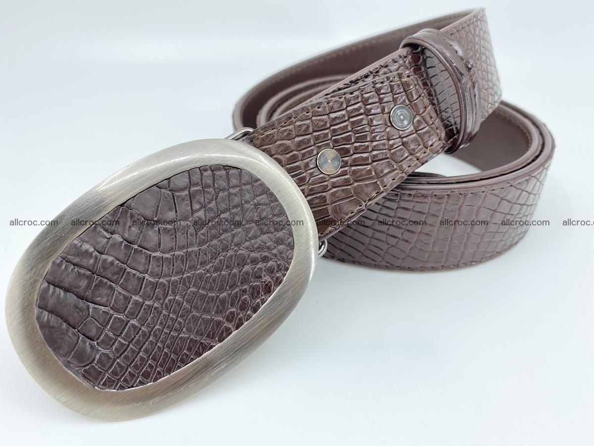 Handcrafted Crocodile leather belt 791 Foto 1