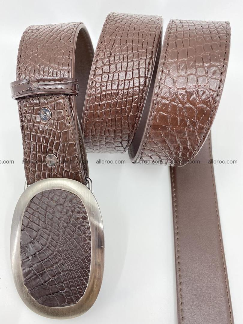 Handcrafted Crocodile leather belt 791 Foto 2