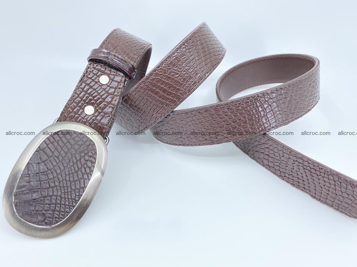 Handcrafted Crocodile leather belt 791 Foto 3