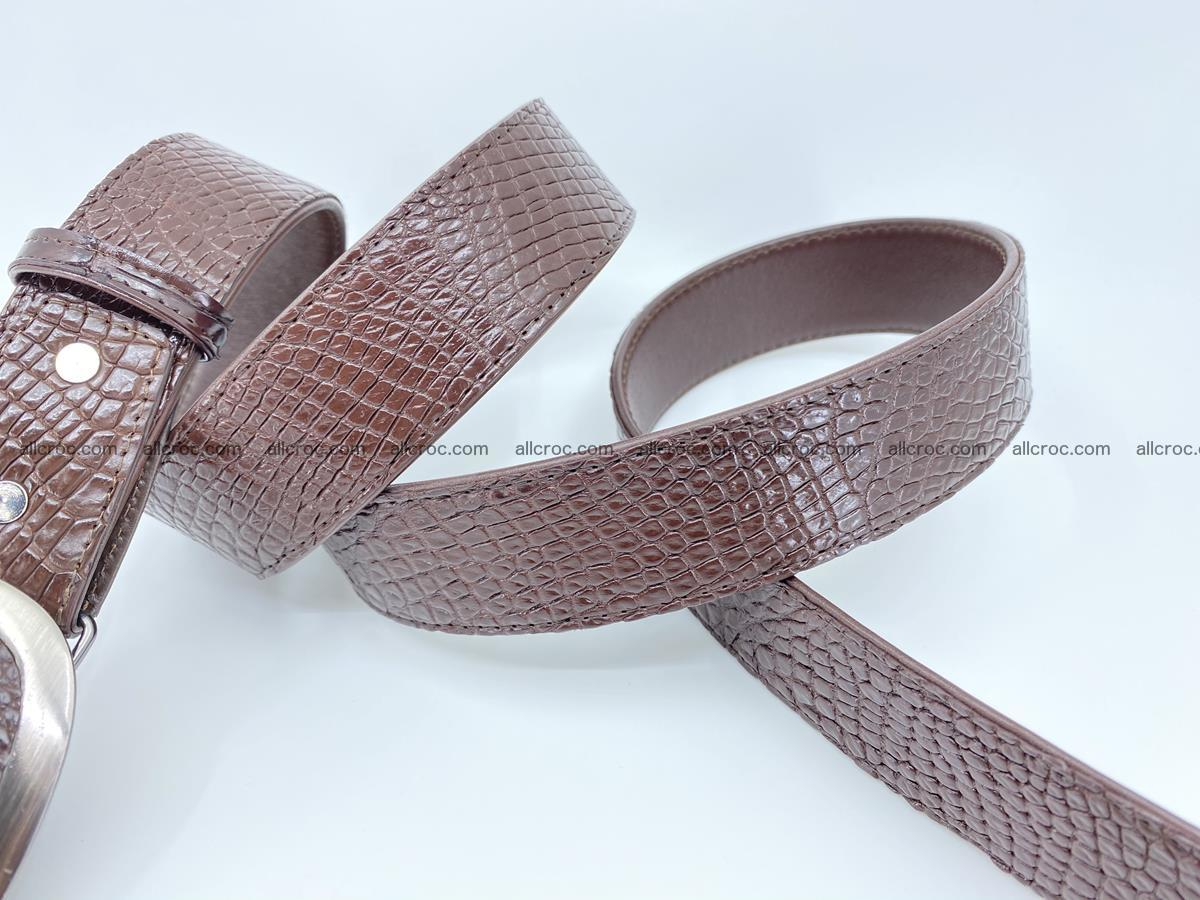 Handcrafted Crocodile leather belt 791 Foto 4