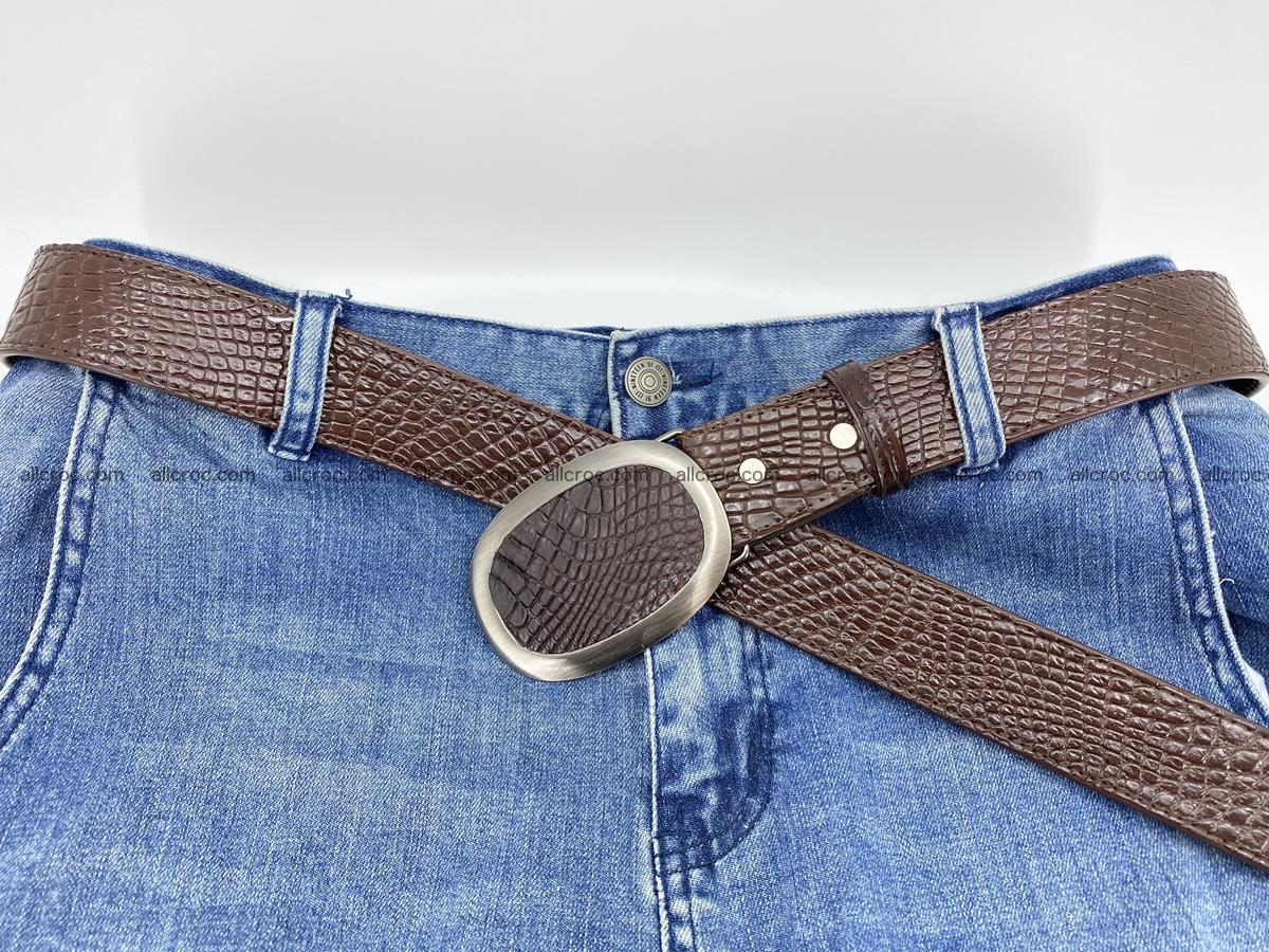 Handcrafted Crocodile leather belt 791 Foto 5