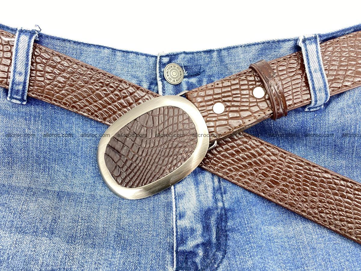 Handcrafted Crocodile leather belt 791 Foto 6
