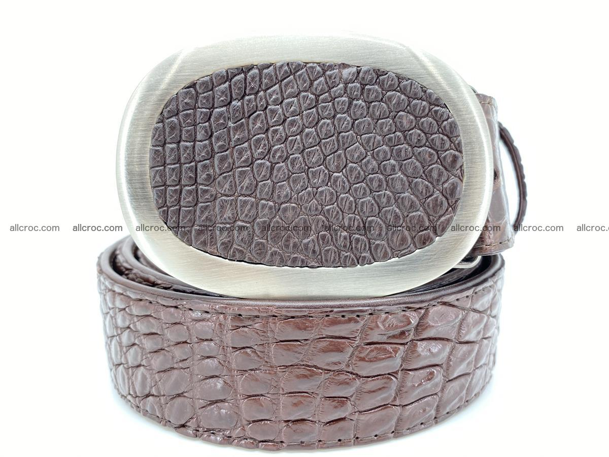 Handcrafted Crocodile leather belt 789 Foto 0