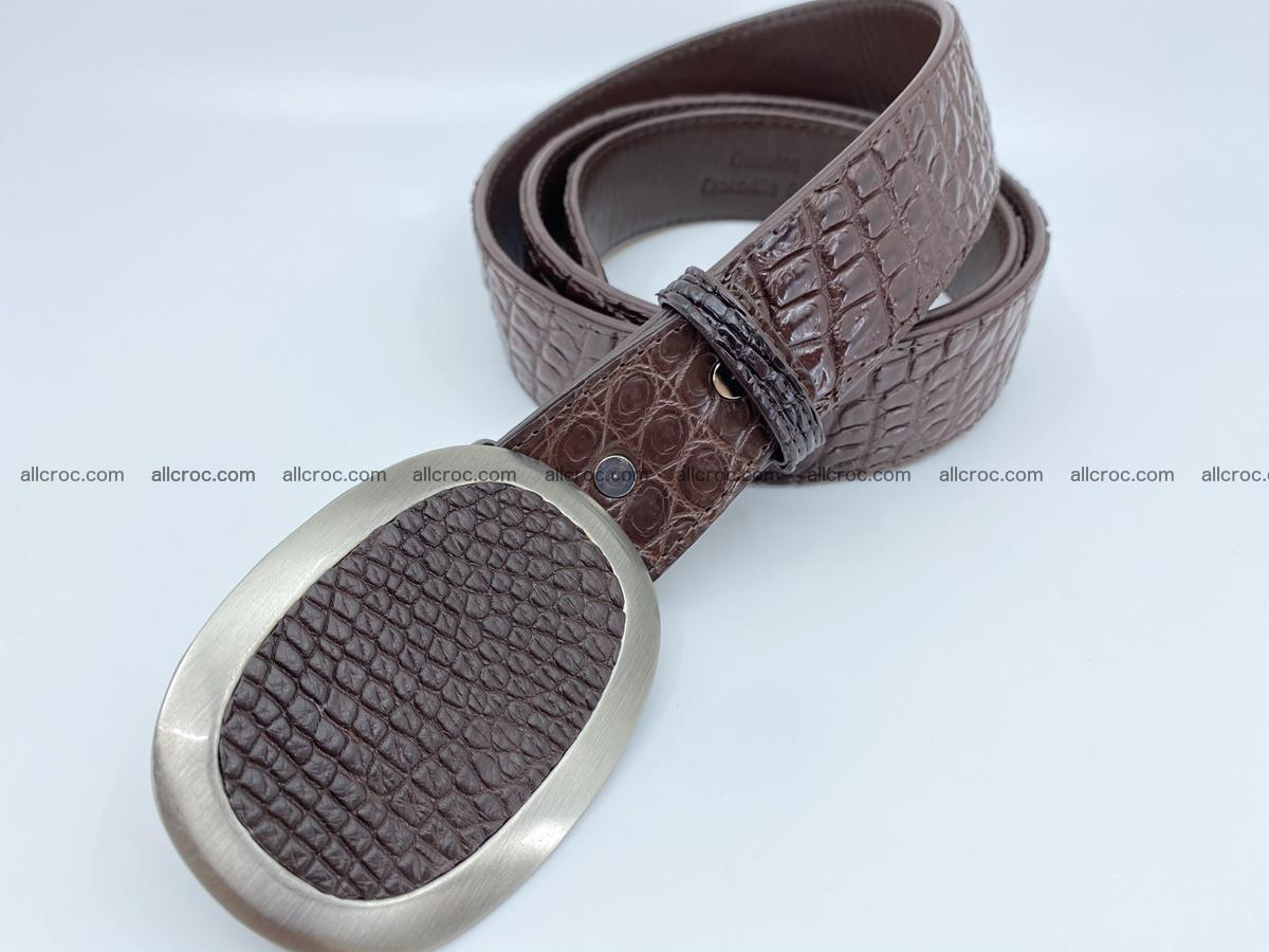 Handcrafted Crocodile leather belt 789 Foto 1