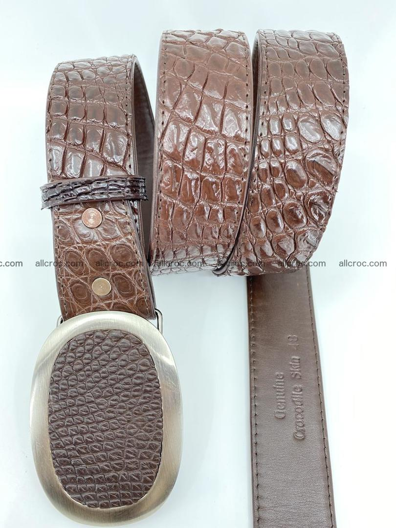 Handcrafted Crocodile leather belt 789 Foto 2