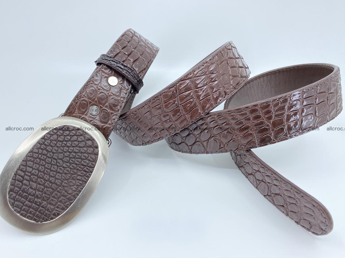 Handcrafted Crocodile leather belt 789 Foto 3