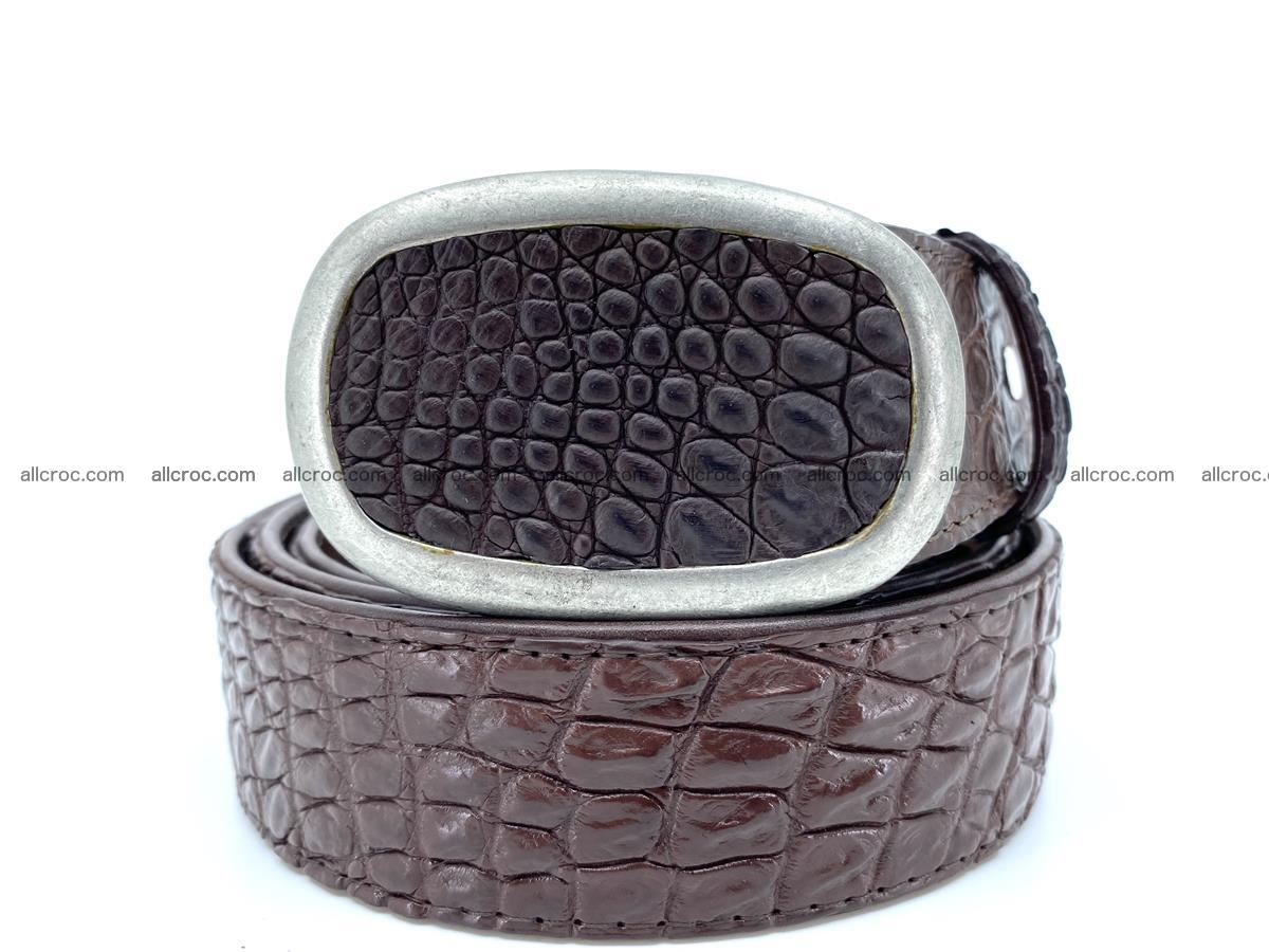 Handcrafted Crocodile leather belt 795 Foto 11