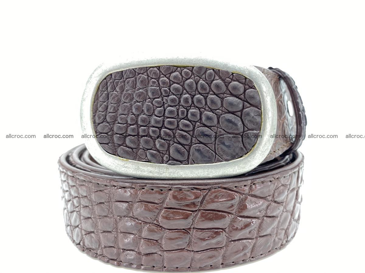 Handcrafted Crocodile leather belt 795 Foto 0