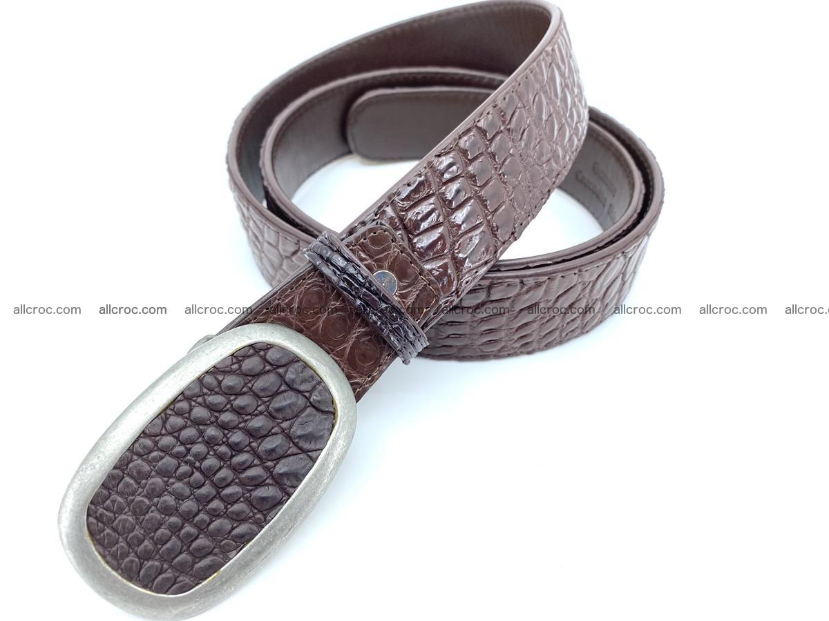Handcrafted Crocodile leather belt 795 Foto 1