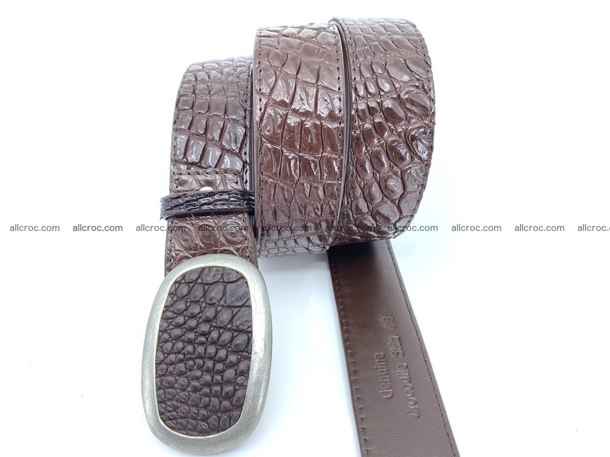 Handcrafted Crocodile leather belt 795 Foto 2
