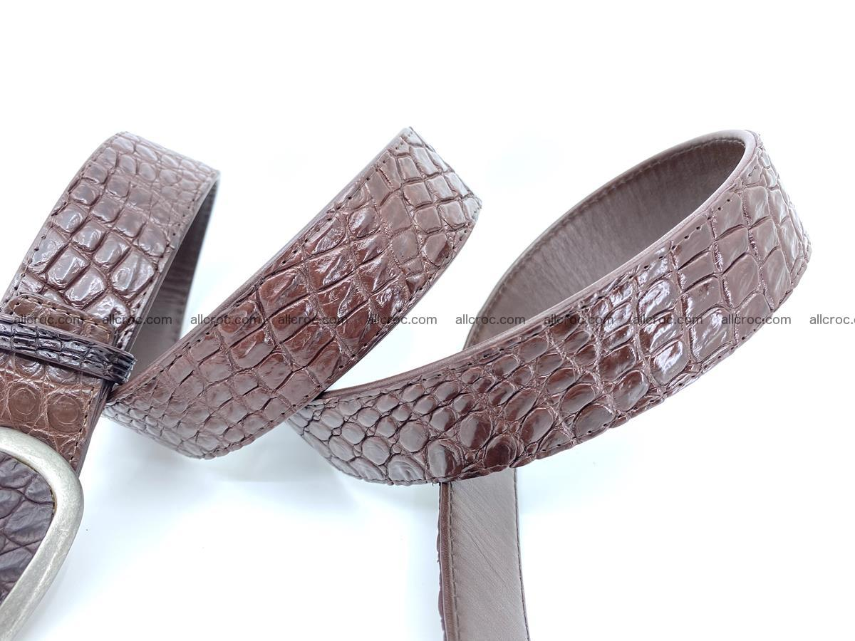 Handcrafted Crocodile leather belt 795 Foto 4