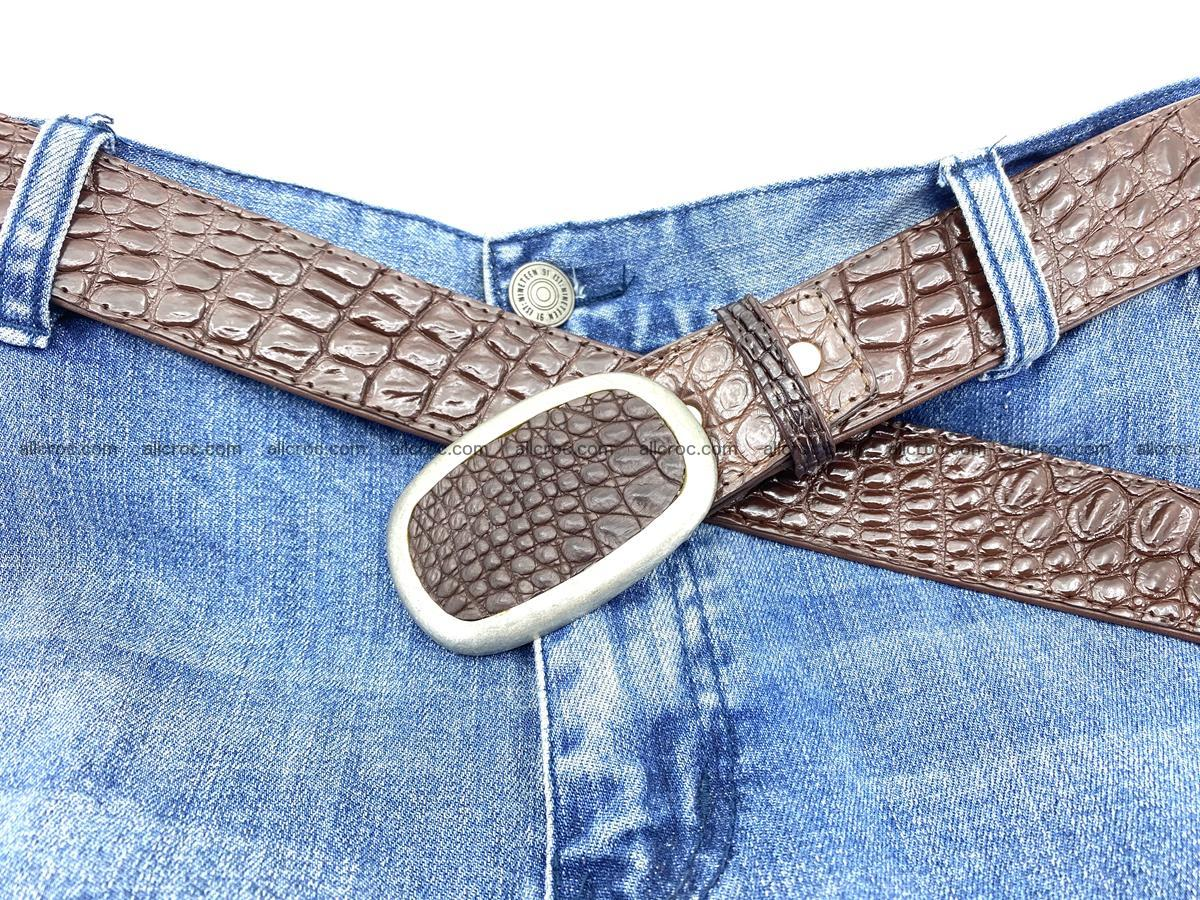 Handcrafted Crocodile leather belt 795 Foto 6