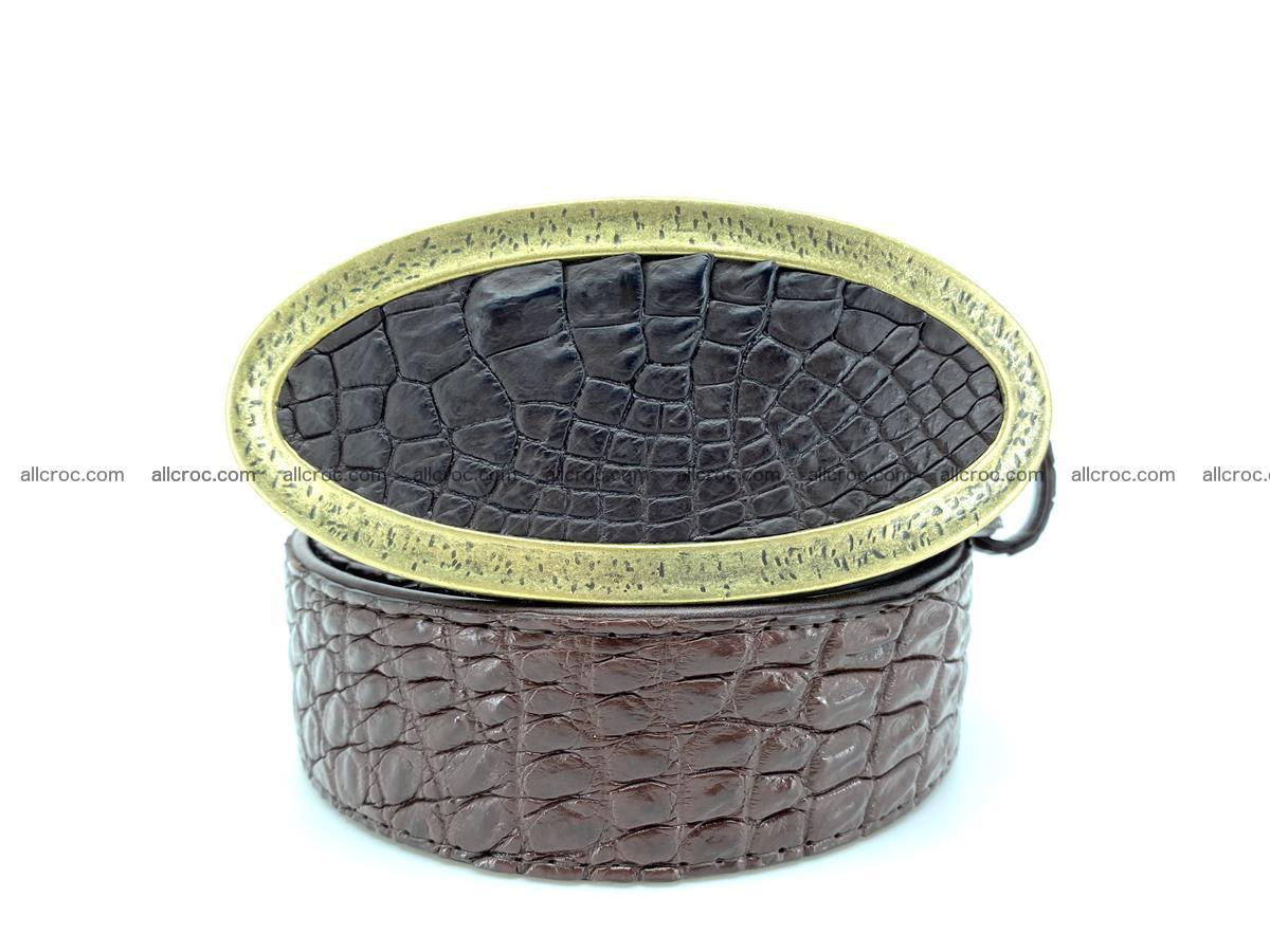 Handcrafted Crocodile leather belt 804 Foto 0