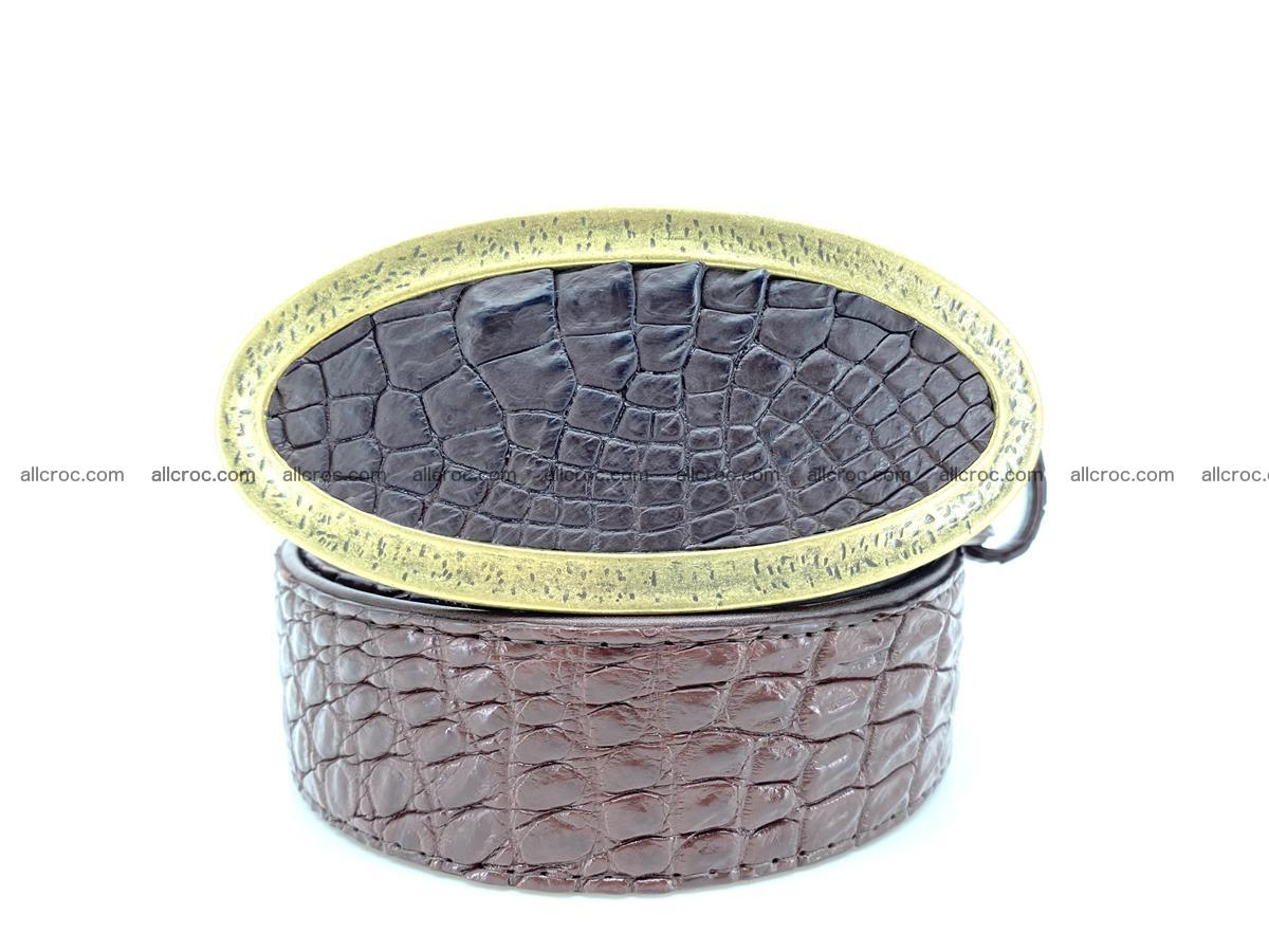 Handcrafted Crocodile leather belt 804 Foto 10