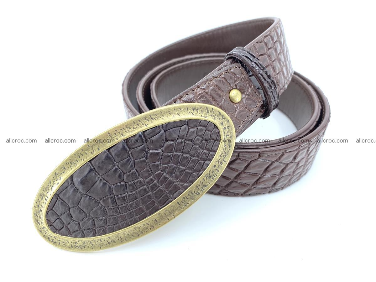 Handcrafted Crocodile leather belt 804 Foto 1