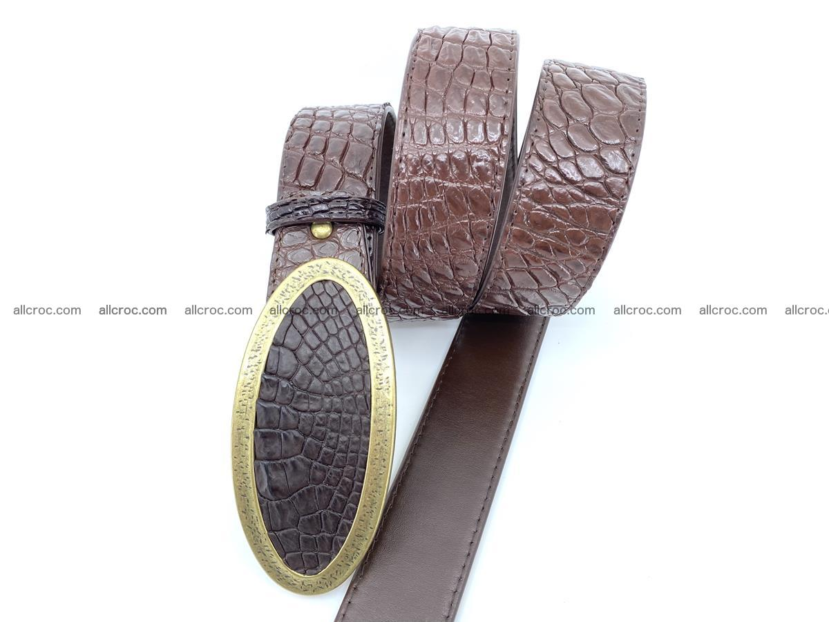 Handcrafted Crocodile leather belt 804 Foto 2