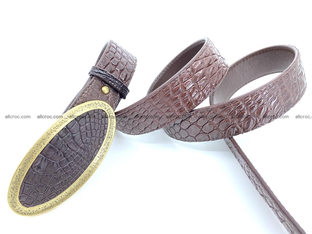 Handcrafted Crocodile leather belt 804 Foto 3