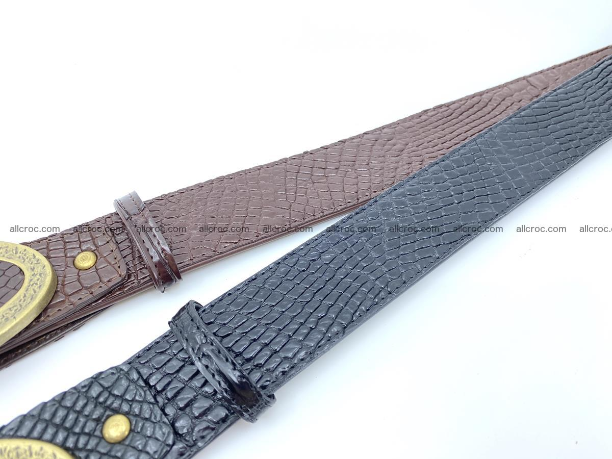 Handcrafted Crocodile leather belt 806 Foto 7