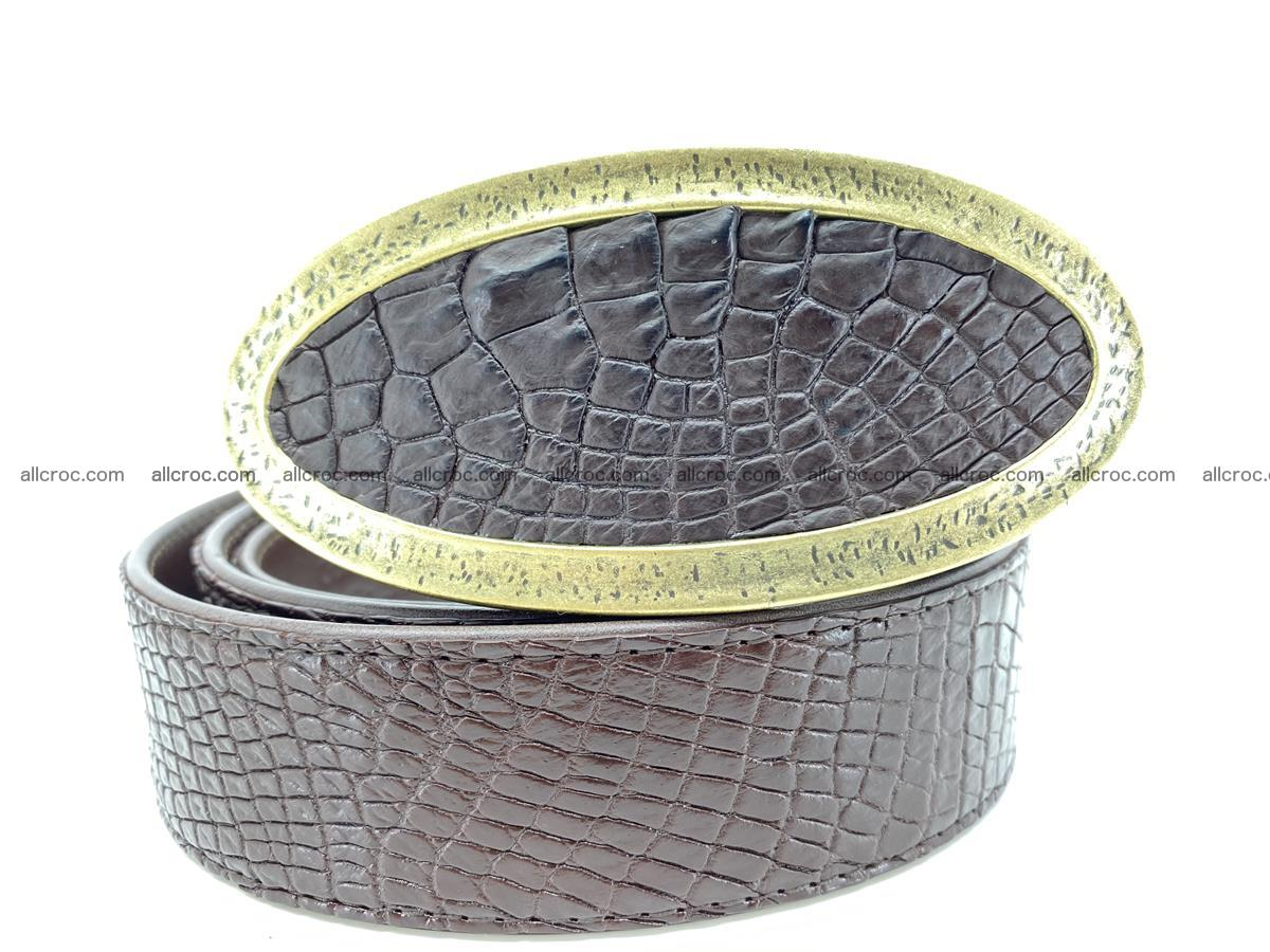 Handcrafted Crocodile leather belt 806 Foto 10
