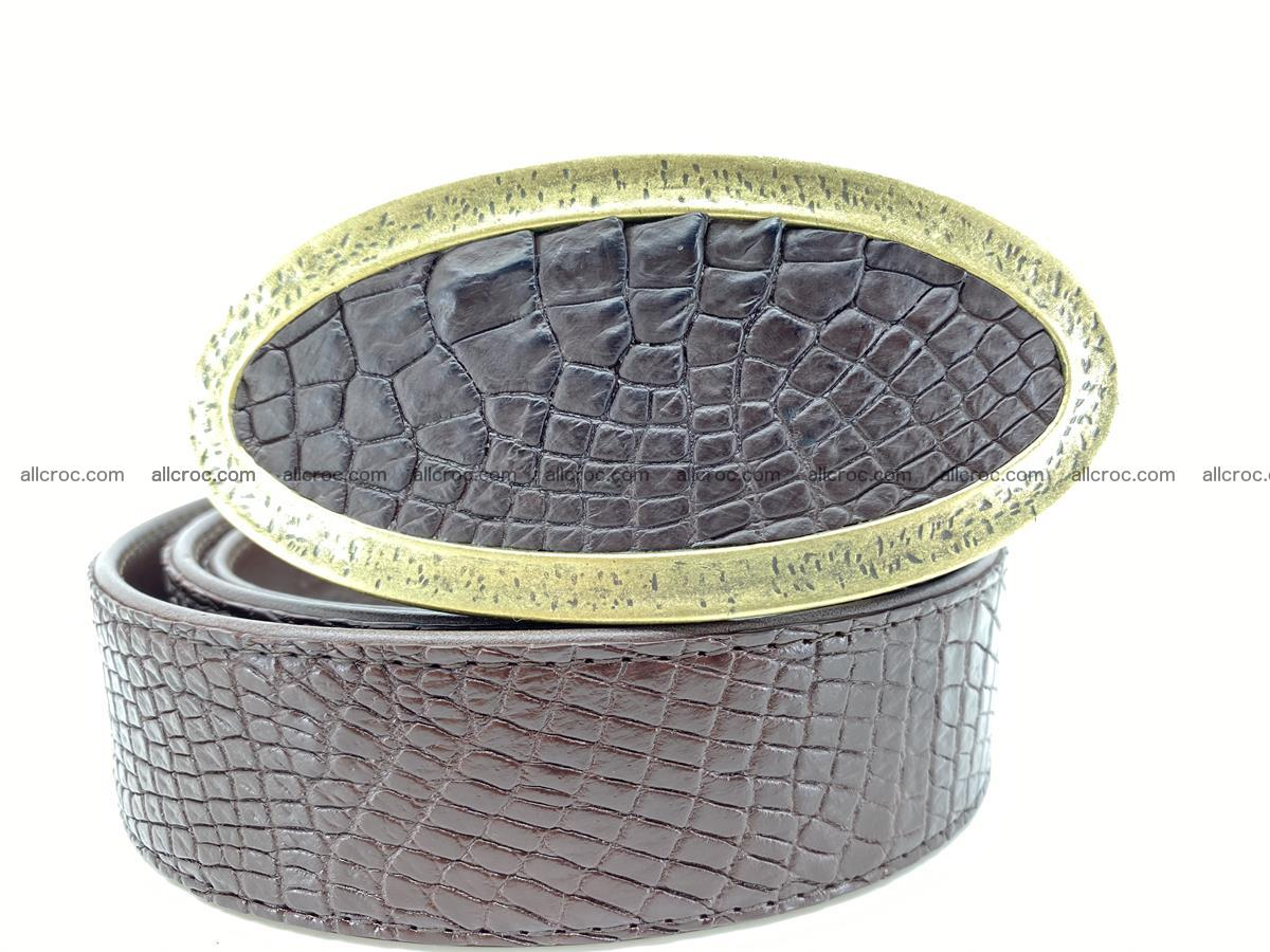 Handcrafted Crocodile leather belt 806 Foto 0