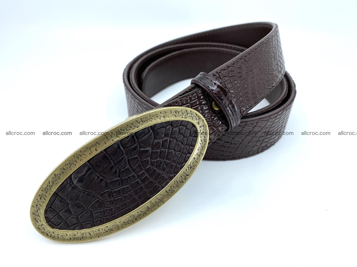 Handcrafted Crocodile leather belt 806 Foto 1