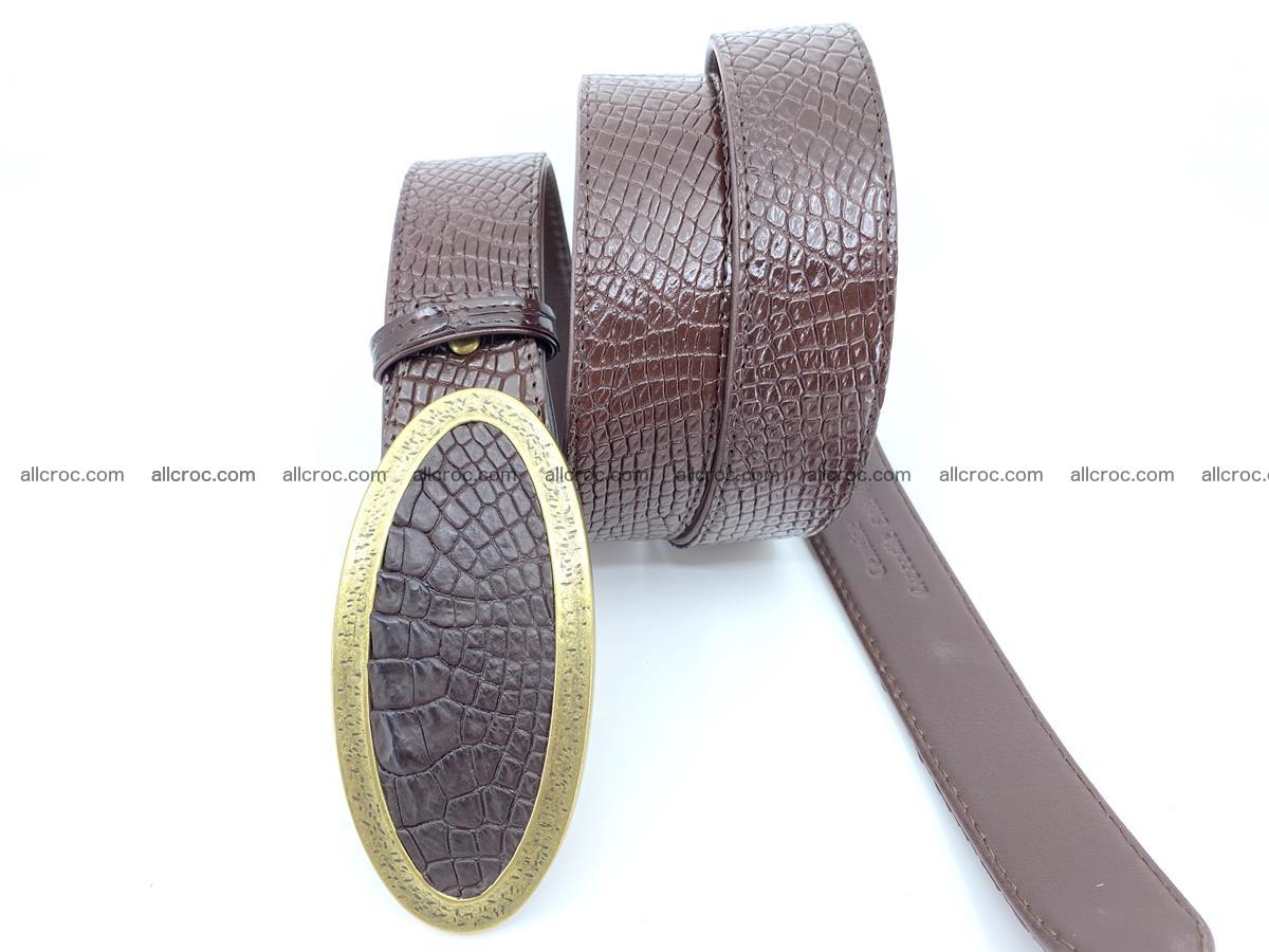 Handcrafted Crocodile leather belt 806 Foto 2
