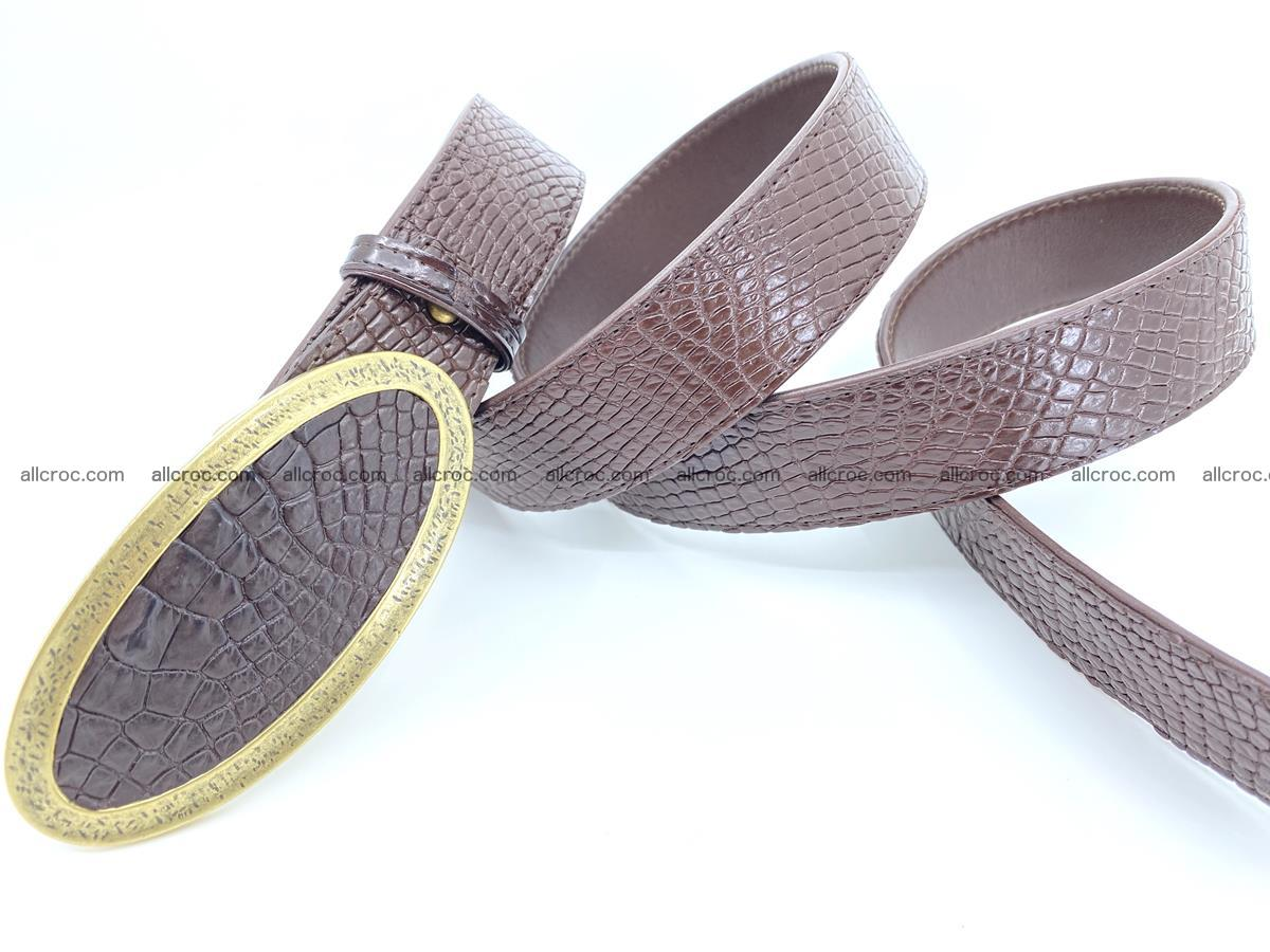 Handcrafted Crocodile leather belt 806 Foto 3