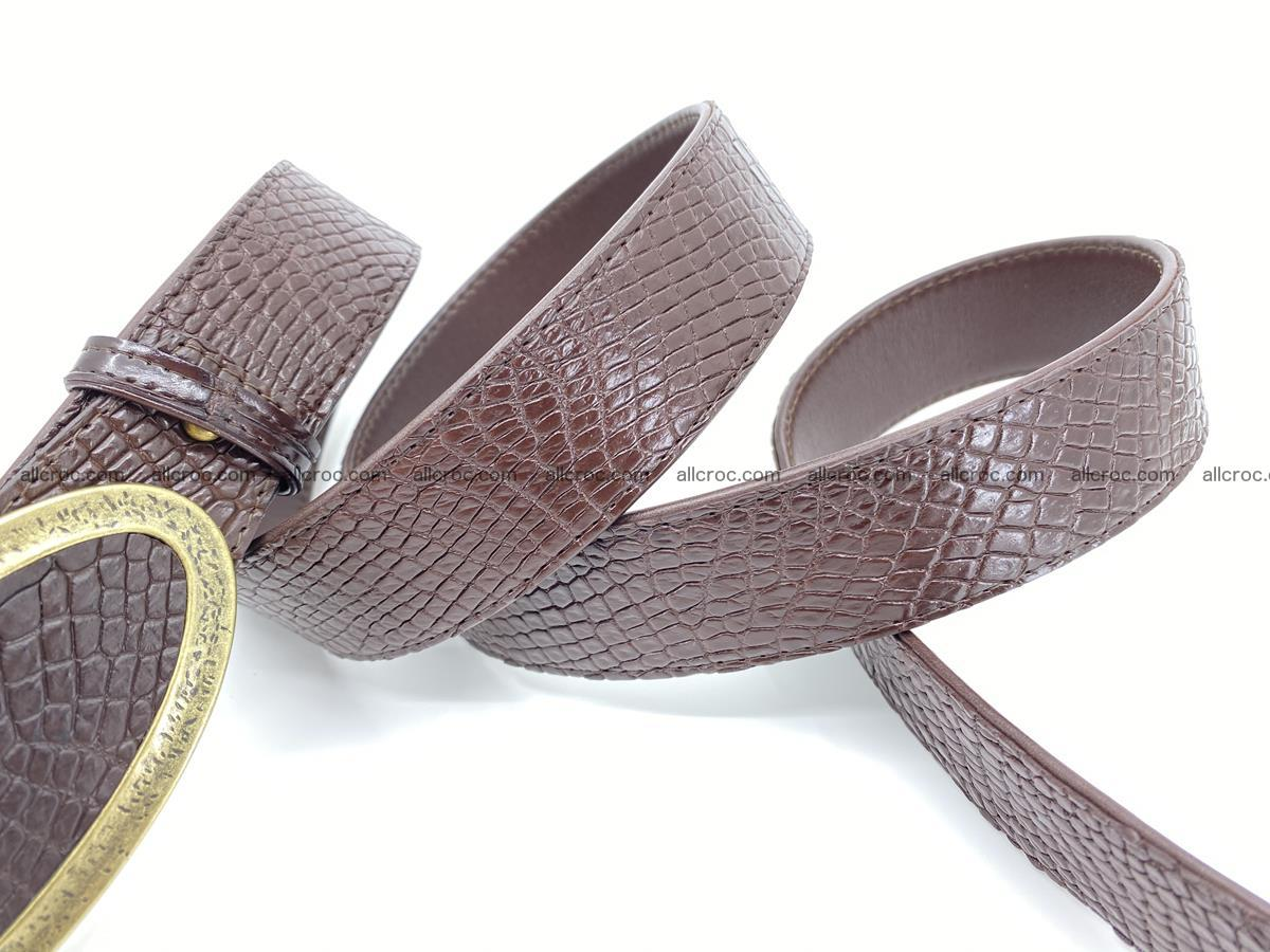 Handcrafted Crocodile leather belt 806 Foto 4