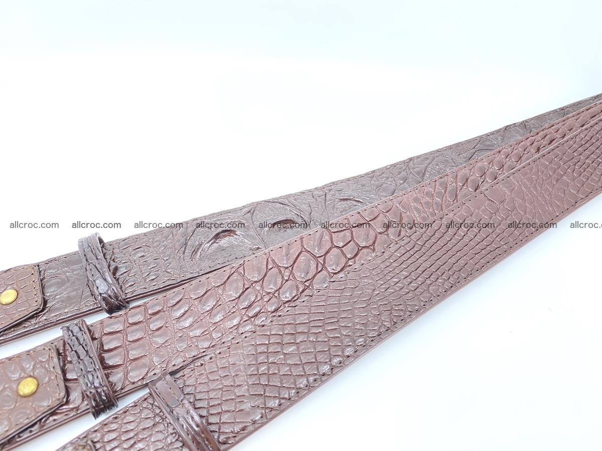 Handcrafted Crocodile leather belt 818 Foto 9